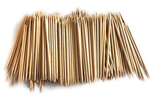 100% Natural White Birch Wooden Toothpicks, Disposable, Rounded with Sharp Pointed Ends, (4 Boxes of 800 Count) 3200 QTY