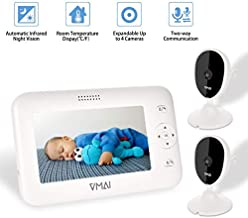 Video Baby Monitor, with Two Digital Cameras, 4.3'' Screen, Auto Night Vision,..