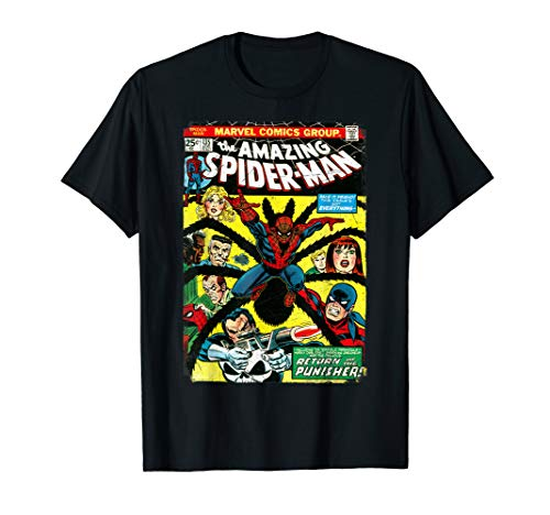 Marvel The Amazing Spider-Man Comic Book Cover T-Shirt