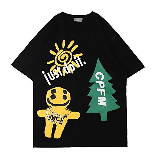 3D gedruckt Unisex Smiley Weihnachtsbaum Schaumdruck Kurzarm Nette Anime Geschenk T-Shirt Baumwollhemd Tops T-Shirts