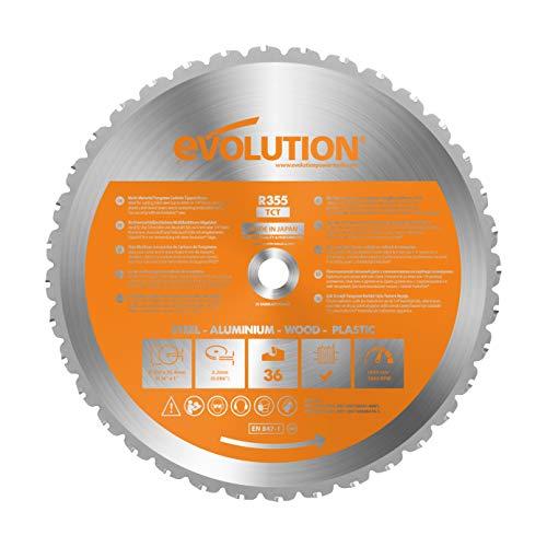 EVOLUTION POWER TOOLS 677355 Hoja de Sierra, 0 W, 0 V, Multicolor, 355mm