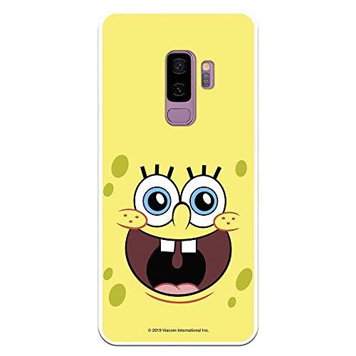 Funda para Samsung Galaxy S9 Plus Oficial de Bob Esponja Bob Alegre para Proteger tu móvil. Carcasa para Samsung de Silicona Flexible con Licencia Oficial de Nickelodeon.