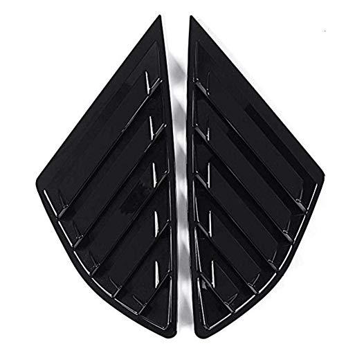 ASHDelk Auto Heckscheibenverkleidung Seitenlüftungsfenster Lamellenabdeckungen, für Ford Fusion 4 Türer