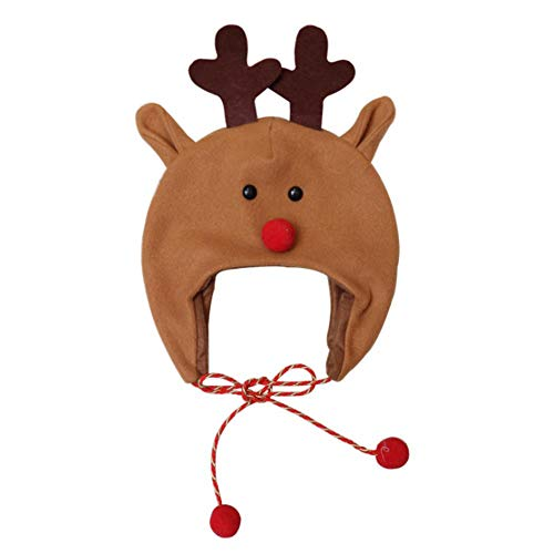 DONGDONG Lange Seil Cartoon Weihnachtsmütze, gebürsteter Stoff Weihnachtsmütze, Kinder Weihnachtsmütze, Lange Seil Cartoon Schneemann Weihnachtsmütze