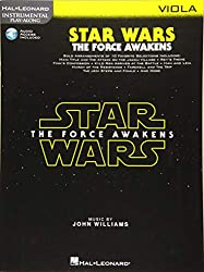 Star Wars: The Force Awakens Instrumental Play Along - Best Play Along Beginner Music Books for Viola