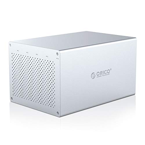 ORICO 5 Bay RAID Enclosure 3.5 Type C Enclosure SATA III Aluminum Case Support 2.5/3.5inch HDD SSD Up to 80TB(5x16) for NAS Expansion Data Backup Video User - WS500RC3