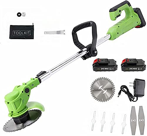 LHMYHHH Electric Lawn Mower Multifunctional Small Portable Lithium Powered Weeder Rechargeable Weeder Standard Australian Charger 24V / Battery × 2-24V/battery × 2_Australisches Standardladegerät