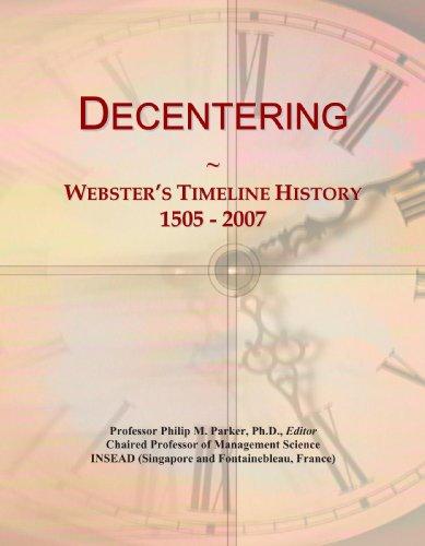 Decentering: Webster's Timeline History, 1505 - 2007