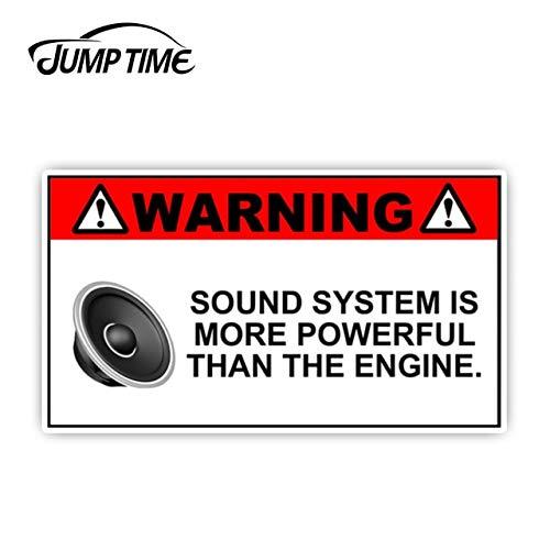 FAFPAY Car sticker 13cm x 7.2cm funny sound system warning sticker set vinyl decal sub jdm woofer portable car motorcycle carstyling Lcai-6312
