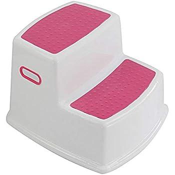 Small Teekit Tabouret de Toilette antid/érapant pour Enfant 2 marches Rose