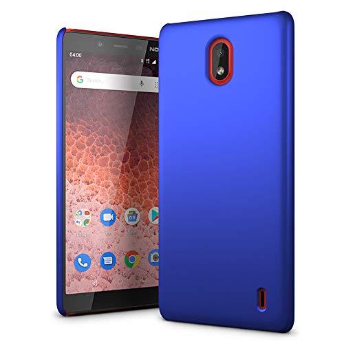 SLEO Custodia Nokia 1 Plus, Cover Nokia 1 Plus Thin Fit, [Cover Sottile & Robusto] Rivestimento Soft-Feel, Ultra Leggero Protetto PC Duro Case - Celeste