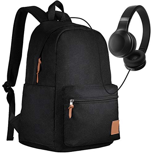 PICTEK School Backpack, Boy/Girl Backpack for School with Headphone Port, Waterproof Laptop Backpack fits 14-15.6'' Laptops, Ultralight Backpack for Kids...