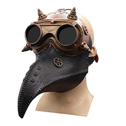 N/O pest dokter masker, lange neus vogel snavel masker gotische steampunk masker halloween middeleeuwse cosplay partij kostuum rekwisieten