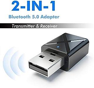 SZHHDX 2の1ワイヤレス USB ブルートゥース トランスミッタ ミニ アダプタ 5.0 オーディオ 音楽 ステレオ 送信 ドングル PC コンピュータ HDTV 用