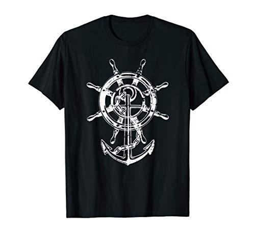 Anker & Ruder Cooles Mode Nautisch Damen Herren Seemann T-Shirt
