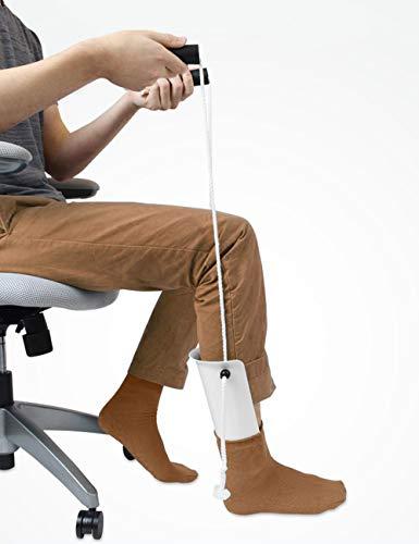 iGuerburn Socken Anziehhilfe – Einfaches An- und Ausziehen von Strümpfen – Strumpfanziehhilfe – Greifhilfe für Kompressionssocken - für ältere Menschen, Senioren, Schwangere, Diabetiker - Greifzange