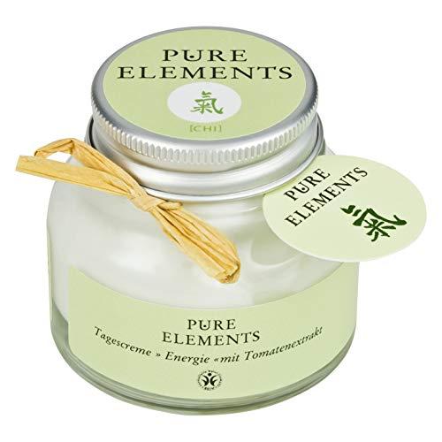 Pure Elements Naturkosmetik   Chi Tagescreme - Energie mit Tomatenextrakt   Reine Naturkosmetik im Glas   50 ml
