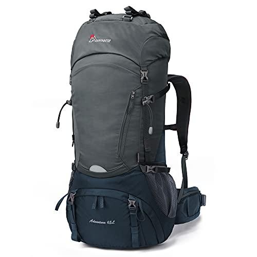 MOUNTAINTOP 65L Wanderrucksack Trekkingrucksack für Camping Wandern Bergsteigen Reisen mit Regenhülle