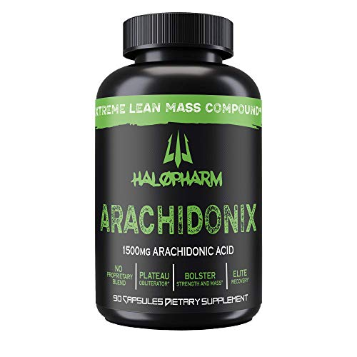 Halopharm Arachidonix - Arachidonic Acid - Muscle Mass and Strength Booster - 1500mg Arachidonic Acid + 20mg Piperine - Assist with Lean Muscle Mass, Power and Muscle Fullness - 90 Capsules