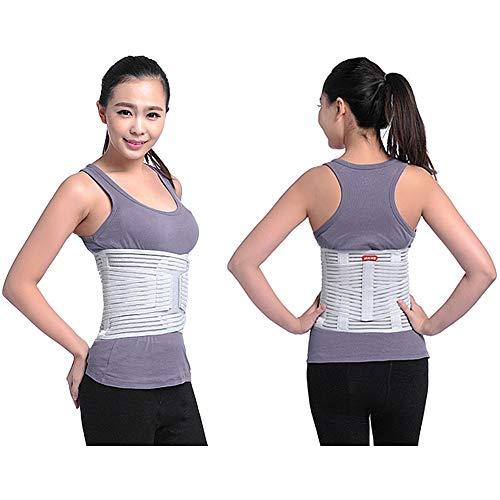 ZFF Respirable Soporte Lumbar Cinturón,Inferior Atrás Apoyo,para Hombre Y Mujer Columna...