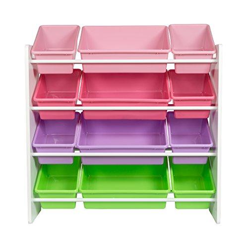 HoneyCanDo Kids Toy Storage Organizer With Bins, Pastel