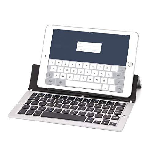 HLIANG Teclado Inalambrico Teclado Plegable Plegable de Bluetooth de Aluminio portátil Teclado Bluetooth Plegable Teclado Tablet (Color : SL)