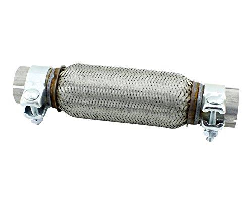 Unión de tubo flexible universal 50x 200mm, de acero inoxidable, con abrazaderas de montaje