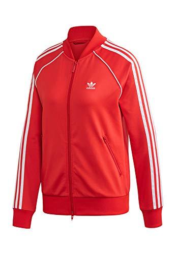 adidas SS TT Sweatshirt, Mujer, Lush Red/White, 38
