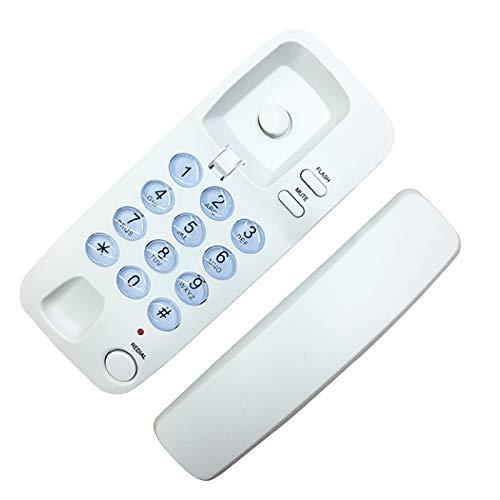 Teléfono con cable montado en la pared, teléfono fijo con cable para el hogar Oficina de hoteles, Teléfonos fijos Big Button