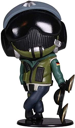 WENJZJ Rainbow Six Collection Tom Clancy Jager Chibi 4 Figuras de acción Juegos Regalos Juguetes