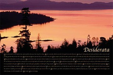 Desiderata - Sunrise Inspirational Motivational Poster 36 x 24 by 123Posters