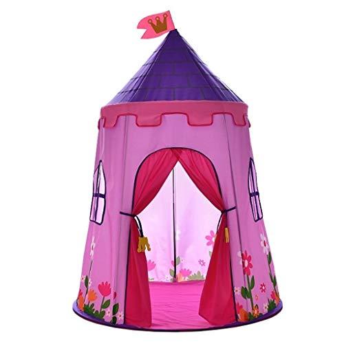 ANQIY Arts - Tenda da gioco a castello, protezione ambientale, in tela di cotone, per interni, pentagono robusto, per la principessa e per il compleanno, per bambini (colore: rosa, misura: #2)