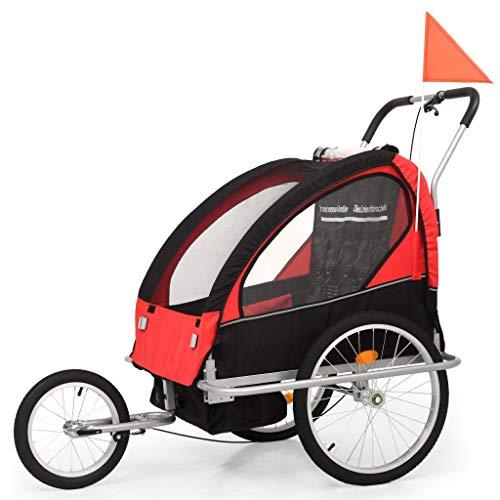 vidaXL Kinderfahrradanhänger 2-in-1 Anhänger Fahrradanhänger Kinderanhänger