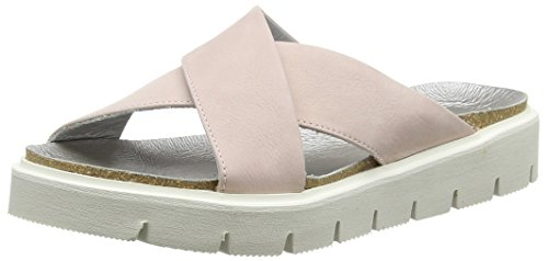 Shoot Shoot Shoes SH-160044DD Damen Sommer Leder Sandale, Damen Plateau Sandalen, Elfenbein (Fard), 36 EU