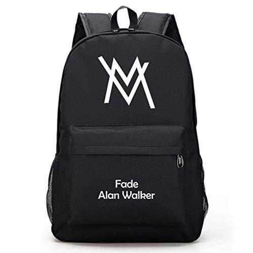 Algodón caramelo DJ escuela bolsa luminosa nueva Alan Walker Alan Walker Faded mochila masculina estudiante escuela bolsa electrónica DJ mochila marea