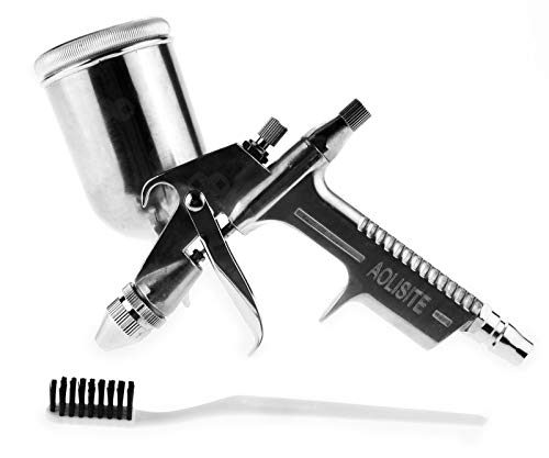 Create Idea 0.5mm Airbrushpistole Lackierpistole 200CC Sprühpistole Silber Farbpistole Für Auto PKW LKW