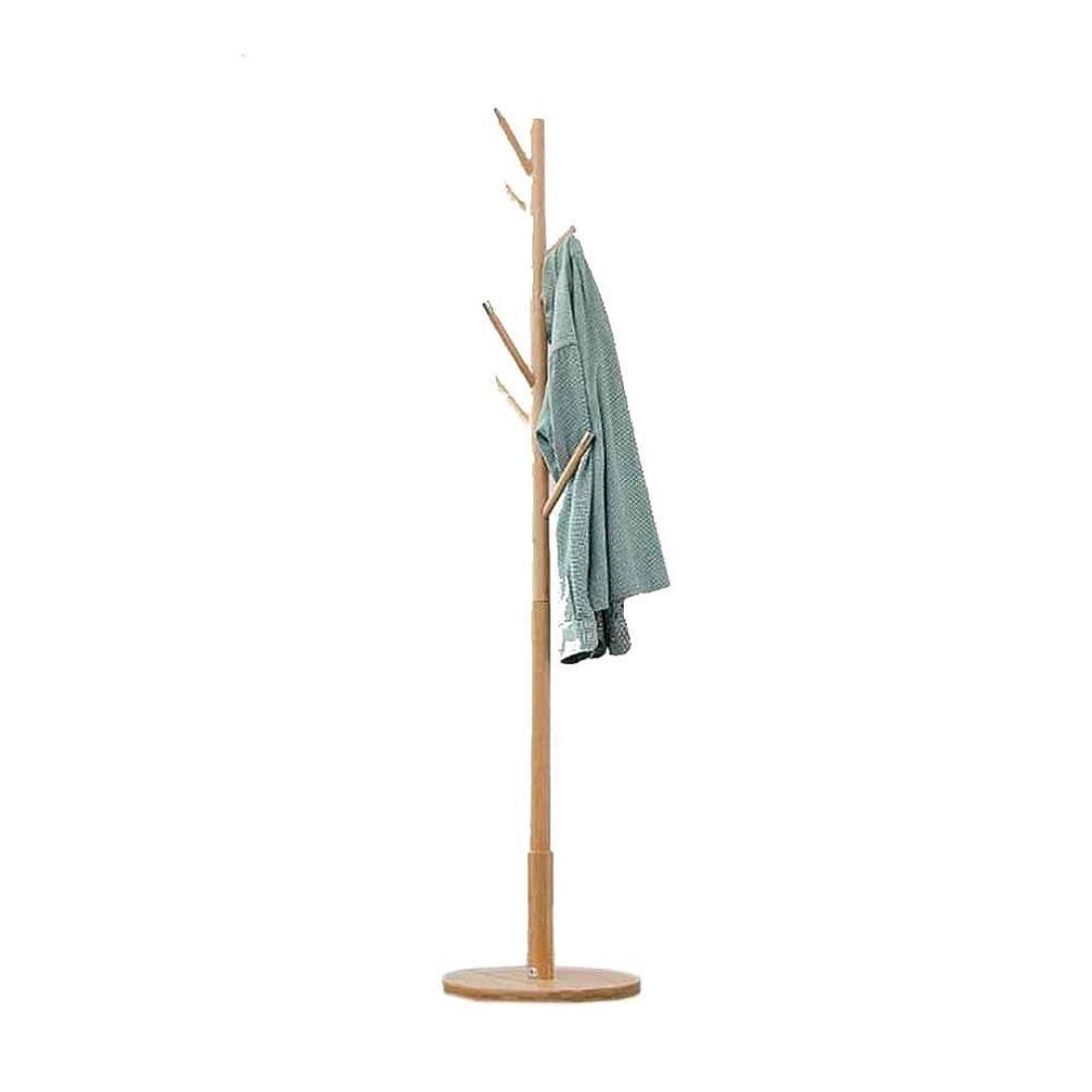 スキニーバトル取得するZX コートハンガーコートラックスタンドハンガーストレージジャケットツZX ハンガーラック コートラック ハンガー 床置き 竹 寝室 リビングルーム 屋内 (色:木色) (サイズ:40×40×177cm) 収納家具 (Color : Wood color)