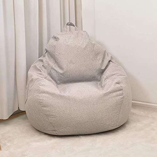 WSVULLD Sitzsack-Abdeckung Faules Sofa-Cover Vollstuhl Innen-Bohnen-Tasche Pouf Puff Couch Tatami Wohnzimmer Möbeldeckel (Farbe: G, Größe: X-Large) (Color : H, Size : L)