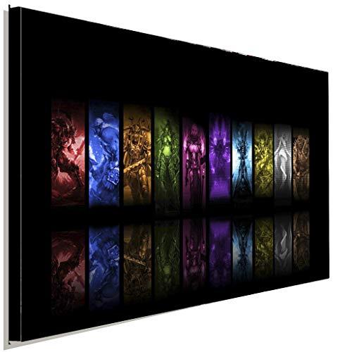 AK ART World of Warcraft Völker Leinwandbild Kunstdruck Wandbild Wanddeko XXL (100 x 70 cm)