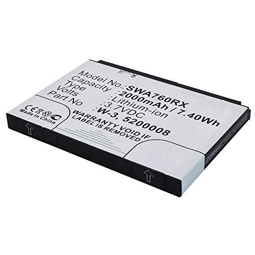 subtel® Batería Premium Compatible con Sierra Wireless AirCard 760s / 762s / 763s / 785s, W-3 2000mAh bateria Repuesto Pila
