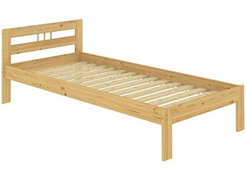 Erst-Holz Solido Letto Classico Corto in Pino massello Laccato 90x190 con doghe rigide 60.64-09-190