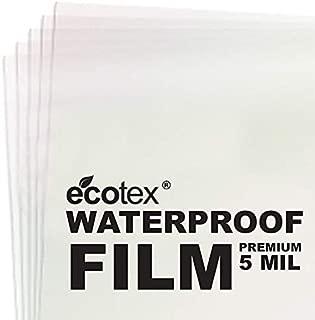 100 Sheets - 5 MIL Thick - Waterproof Screen Printing Inkjet Film Transparency - Cut Sheets (8.5