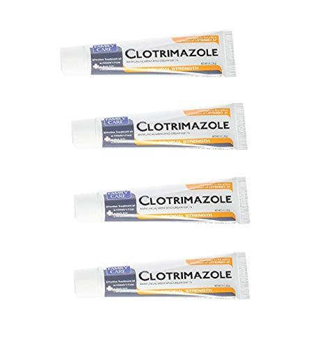 Angular Cheilitis Treatment and Thrush Clotrimazole Antifungal Cream 1% (4 Pack)