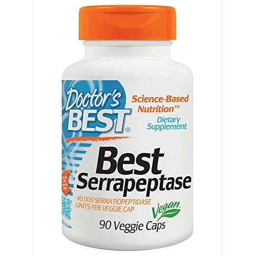 Doctor's Best, Best Serrapeptase, 90 Veggie Caps - 2pc