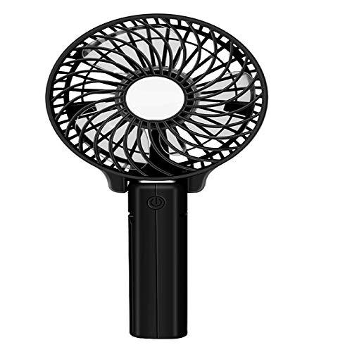 WYMGFD Ventilador USB de 10,5 x 20,5 cm, plegable, funciona con pilas, mini ventilador eléctrico de mano, ventilador de escritorio, mini ventilador de mano