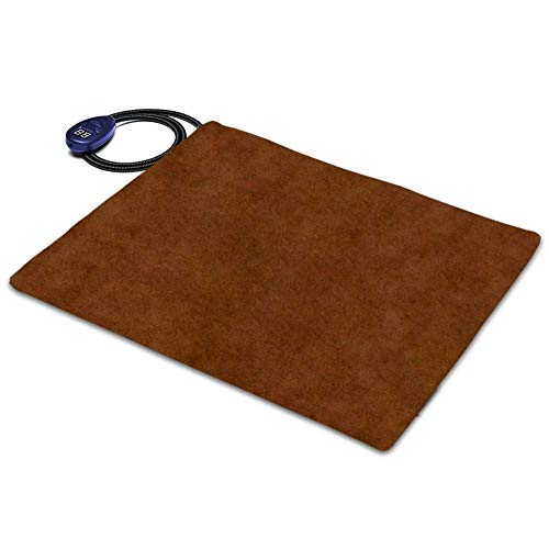 Pet elektrische deken, Verwarming Pad, 12V Low Voltage verwarming pad, Temperatuur hondenlijn Pad/Kat Pad, afwasbaar, Anti-Grab Hose, Winter Mat (Color : Brown)