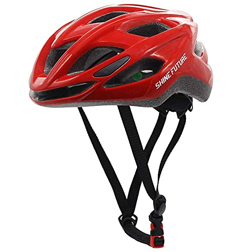 Fahrradhelm für Erwachsene, Leicht Radhelm Cycle Helm mit LED Licht Leicht MTB Bike Helm Einstellbare Größe
