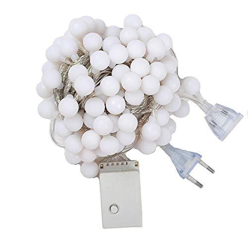 LUZ Intermitente LED - Cadena de luz USB con alimentación enchufable -...