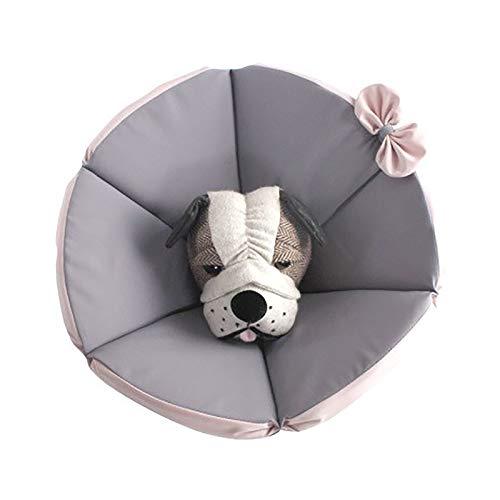 Pet Cone Hunderettung Halsband, Hundehalsband Chirurgie Kragen Weiche Justierbarer Haustier Erholung Kragen Schutzkragen Nicht Blockiert Vision,Rosa,XXXL