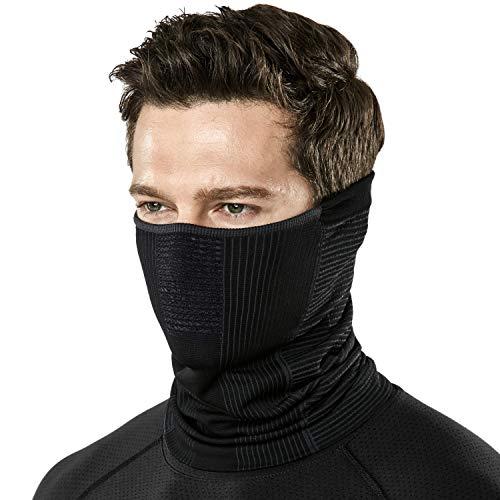 (テスラ)TESLA フェイスマスク フェイスカバー フェイスガード スポーツ マフラー 保温 軽量 洗える ネックウォーマー [UVカット・吸汗速乾] フリーサイズ YZN20-KGY_FREE
